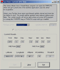 PARGPS VISUAL BASIC GPSTIME SCREEN